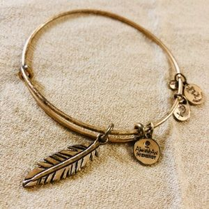 Alex and Ani Gold Leaf Bracelet